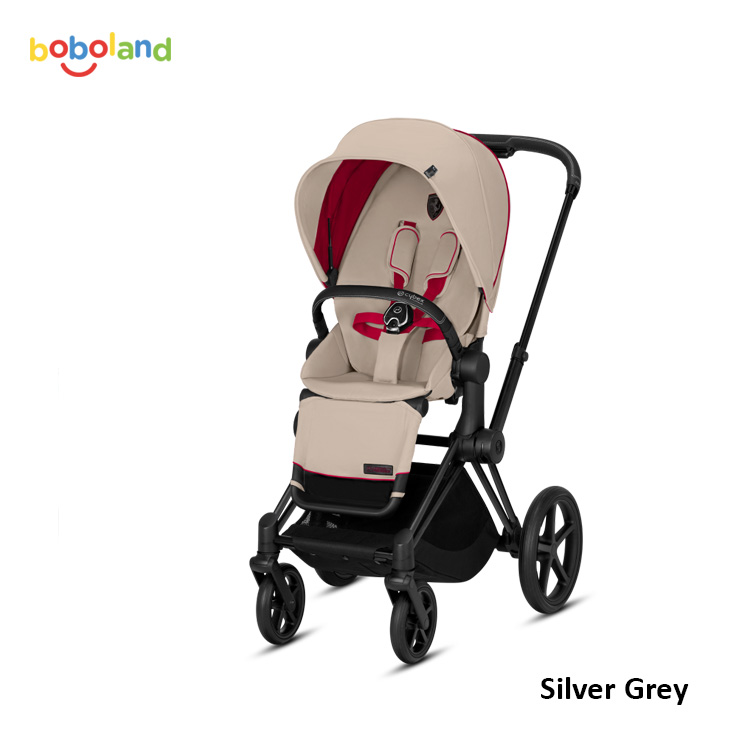 Wózek spacerowy CYBEX Priam 2.0 - kolor Ferrari Silver Grey