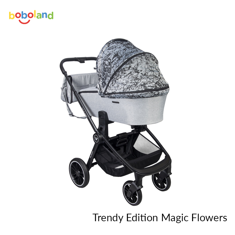 Wózek dziecięcy Muuvo Quick Trendy Edition 2w1 - kolor Magic Flowers
