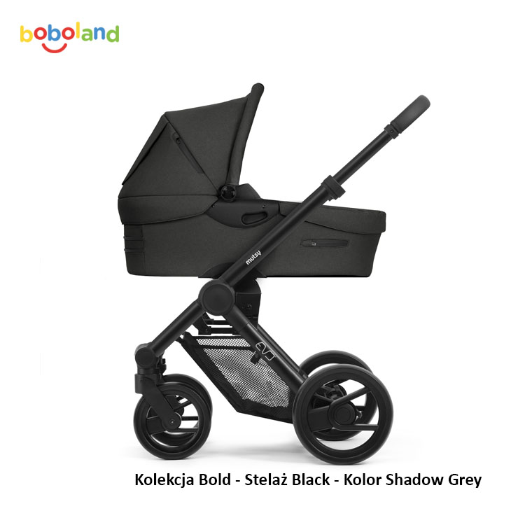 Mutsy Evo - Kolekcja Bold - Stelaż Black - Kolor Shadow Grey