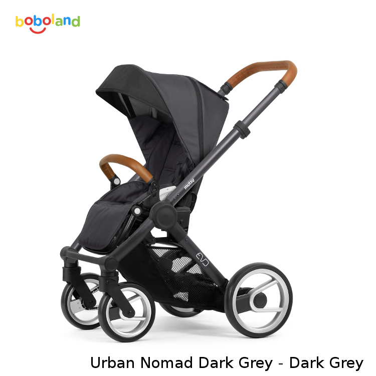 Wózek spacerowy MUTSY EVO kolekcja 2019 - kolor Urban Nomad Dark Grey - stelaż Dark Grey
