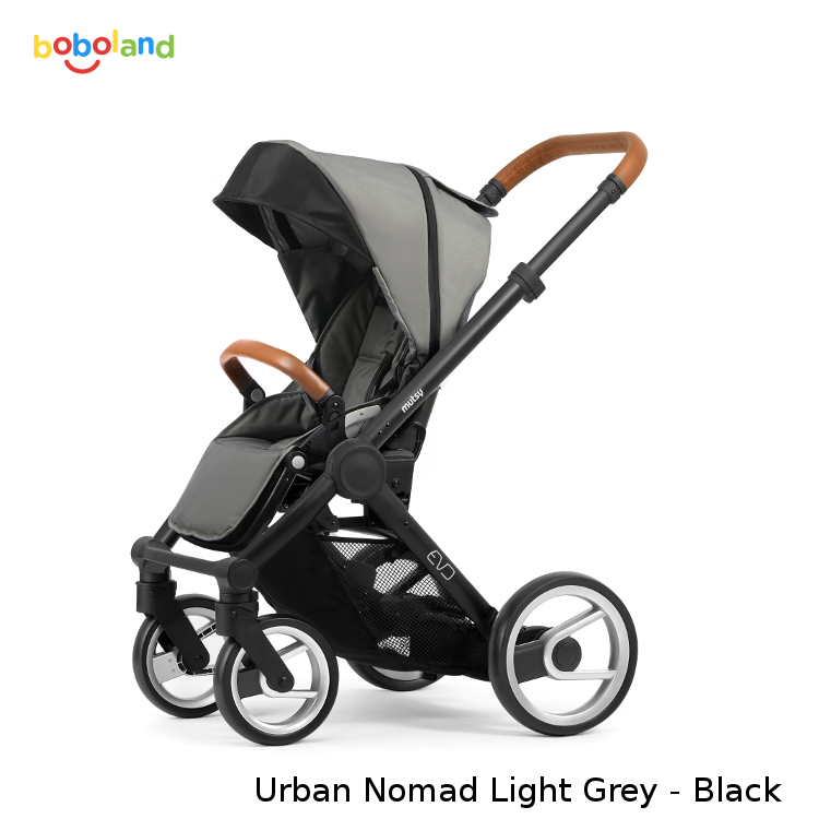Wózek spacerowy MUTSY EVO kolekcja 2019 - kolor Urban Nomad Light Grey - stelaż Black