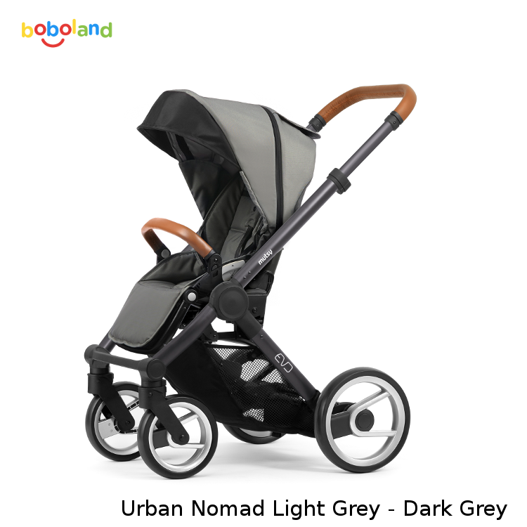 Wózek spacerowy MUTSY EVO kolekcja 2019 - kolor Urban Nomad Light Grey - stelaż Dark Grey